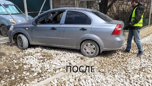 Дептранс решил проблему с выездом авто на одной из улиц Севастополя