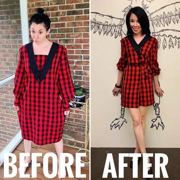 как перешить платье красиво