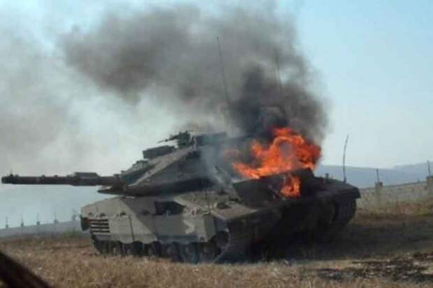 Российские «Фаготы» и «Корнеты» успешно жгут израильскую бронетехнику