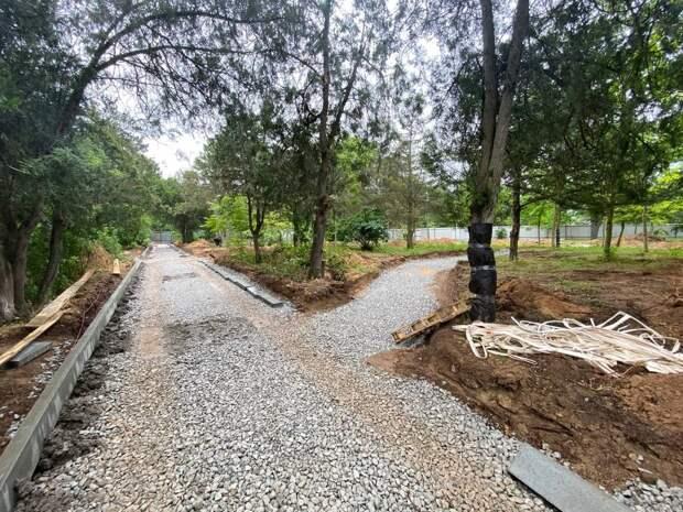 Как идет капремонт парка имени Фрунзе в Евпатории