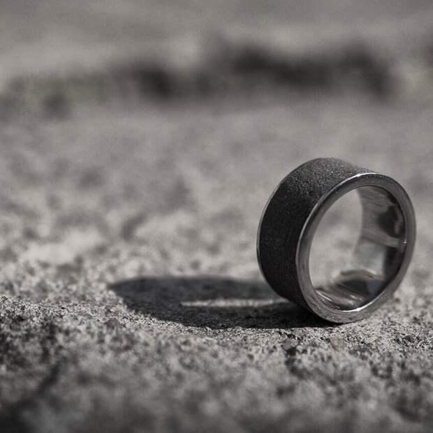 Кольцо из стали и бетона бетон, дизайнерские штучки, из бетона, крутые штуки, необычно, необычные вещи