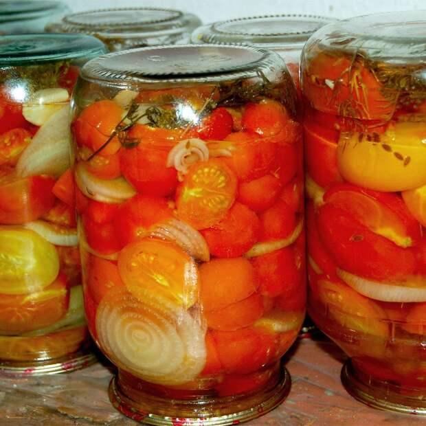 Зимний салат из помидоров (без соли)