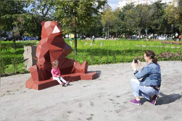 Фото в стиле оригами в Южном Медведкове/ Артур Новосильцев
