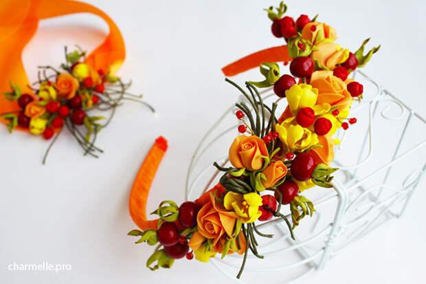 Аксессуары и бижутерия с ягодами из полимерной глины