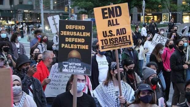 ВСША иЕвропе организованы уличные акции вподдержку Палестины