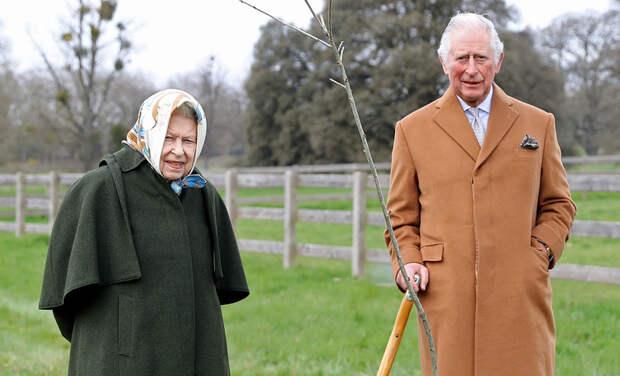 Королева Елизавета II и принц Чарльз посадили дерево по особенному поводу