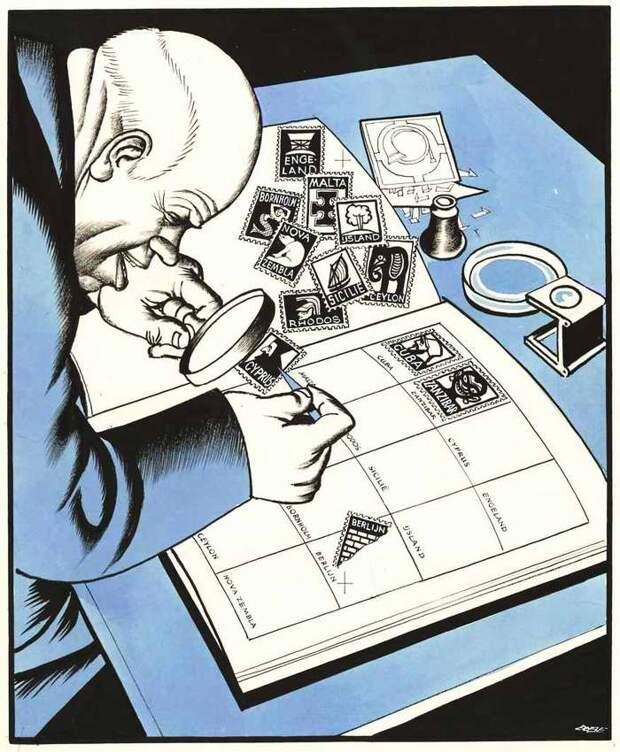 Советский лидер Никита Хрущев - собиратель почтовых марок с изображениями подконтрольных ему стран мира