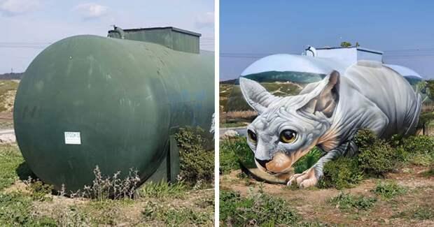 Уличный художник Том Брагадо Бланко и его потрясающие городские иллюзии
