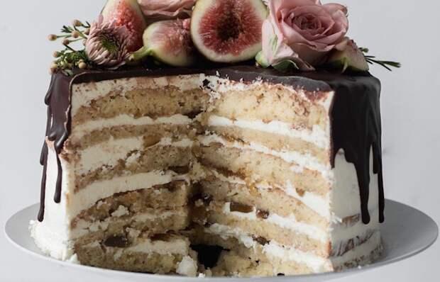 Волшебно вкусный миндально-инжирный торт