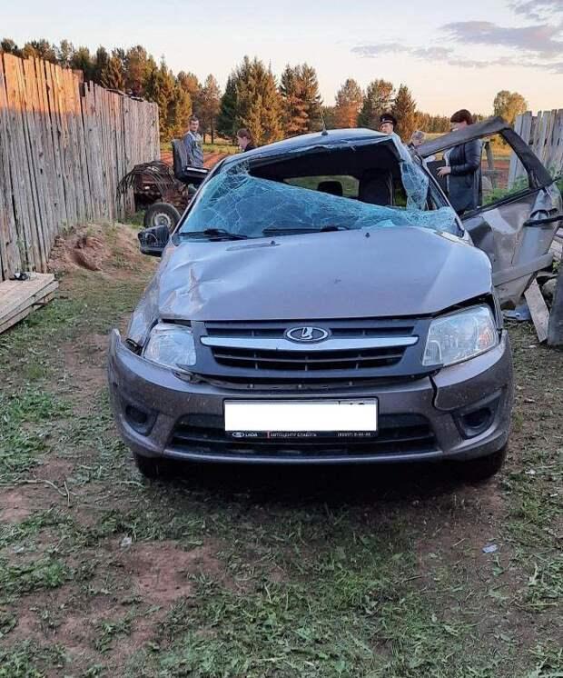 Пьяный водитель легковушки скрылся с места ДТП в Удмуртии