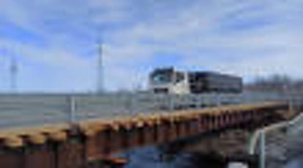 Запущено движение по временному мосту через реку Канентьявр