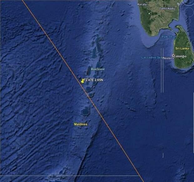 В «Роскосмосе» подтвердили падение в Инидийский океан обломков китайской ракеты-носителя «Чанчжэн-5Б»