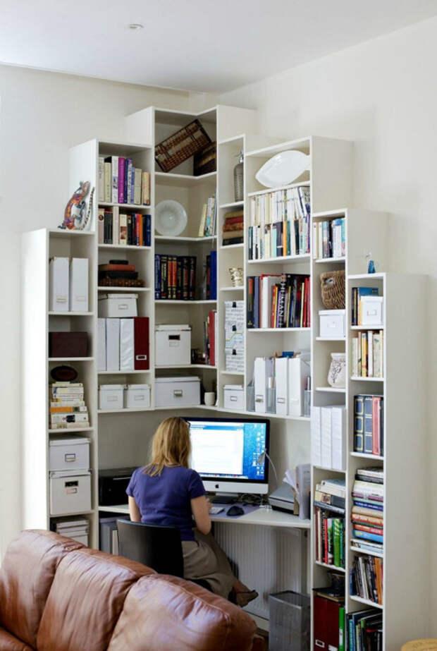 Рабочее место в углу. | Фото: Inspiras Club.