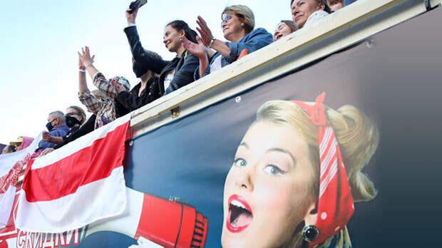 Минский майдан организован изнутри: Жена блогера в шаге от президентства