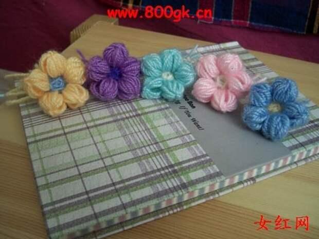 Цветочки крючком для вязания пледов, покрывал, подушек и сидушек (4) (500x375, 113Kb)
