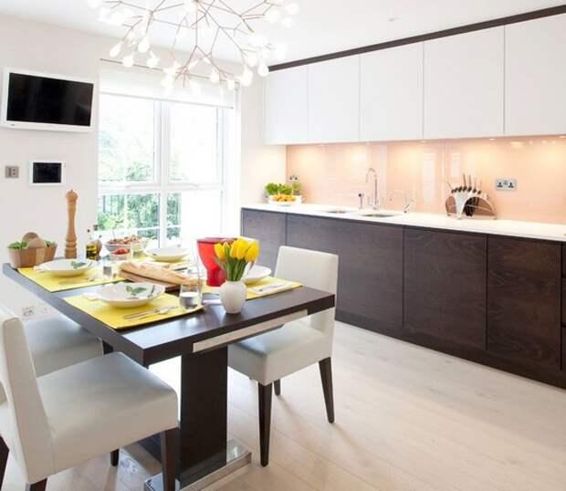 цвет обеденного стола под цвет кухни