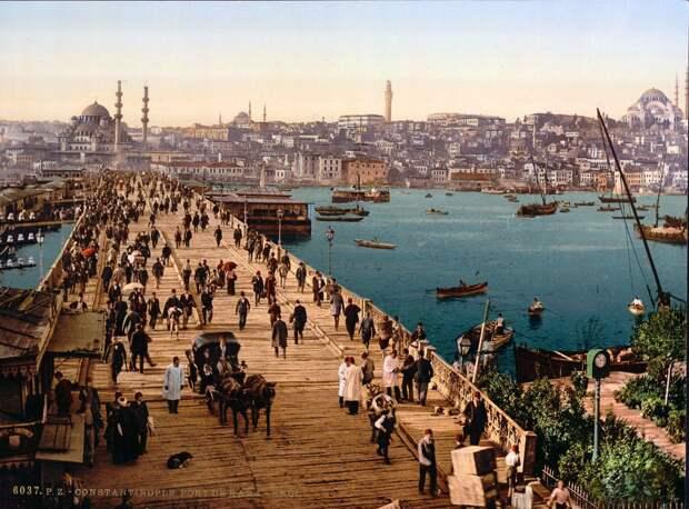 Цветные открытки Константинополя 12