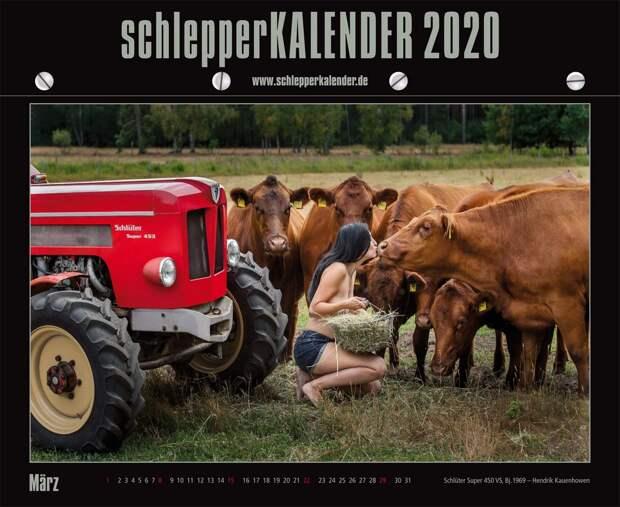"""Девушки и тракторы в календаре """"schlepperKALENDER 2020"""""""