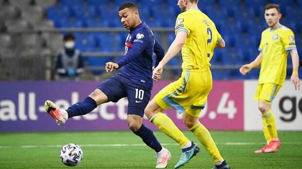 Франция одержала выездную победу над Казахстаном в отборочном матче ЧМ-2022, Мбаппе не забил пенальти