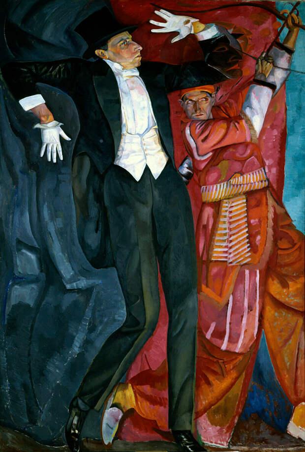 Портрет режиссера В. Э. Мейерхольда. Борис Григорьев.1916.