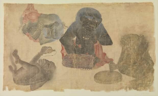 Древнейшее изображение гориллы за пределами Африки обнаружили на азиатской миниатюре