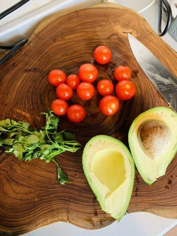 Салат из киноа и авокадо с яйцом пашот! Киноа, ЗОЖ, Авокадо, Длиннопост, Салат, Яйца пашот, Рецепт