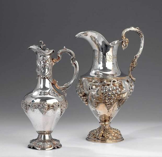 Серебряные кувшины для воды