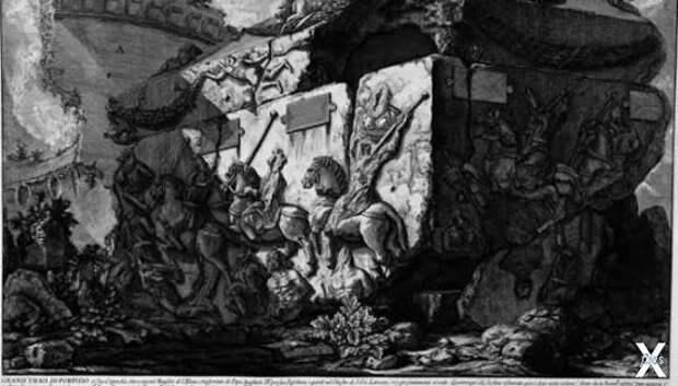 """Пиранези, изображение саркофага из """"Д..."""