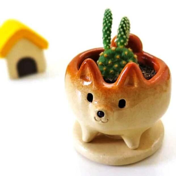 20 симпатичных горшков с животными, которые добавят милоты вашему дому