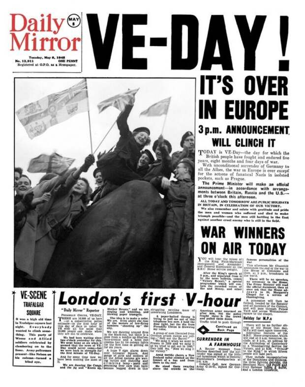 Daily Mirror: «VE-Day. В Европе все закончилось!»