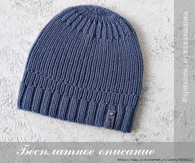 Топ или жилетка и мужская шапка спицами