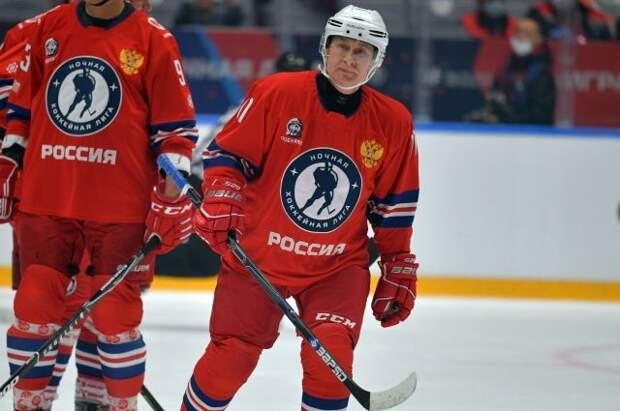 Команда Путина выиграла гала-матч Ночной хоккейной лиги со счетом 13:9