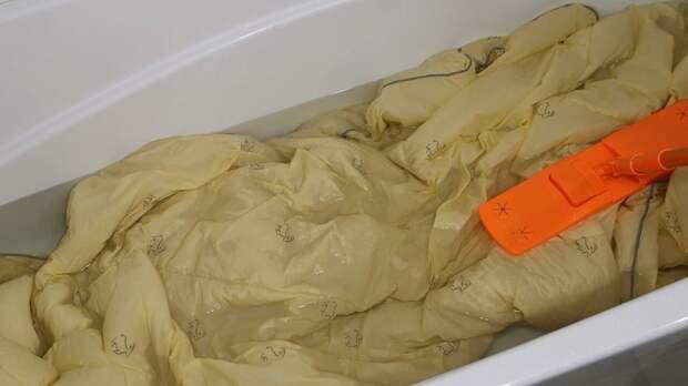 Интересный метод: как постирать тяжёлые вещи, такие как одеяло, плед, покрывало