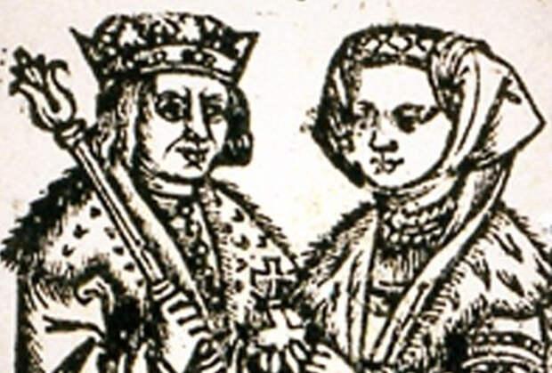 Великий князь литовский Александр с супругой, Еленой Ивановной, дочерью Ивана III