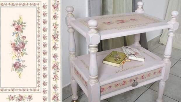 Декупаж мебели в стиле шебби-шик. Фото с сайта aistcraft.com