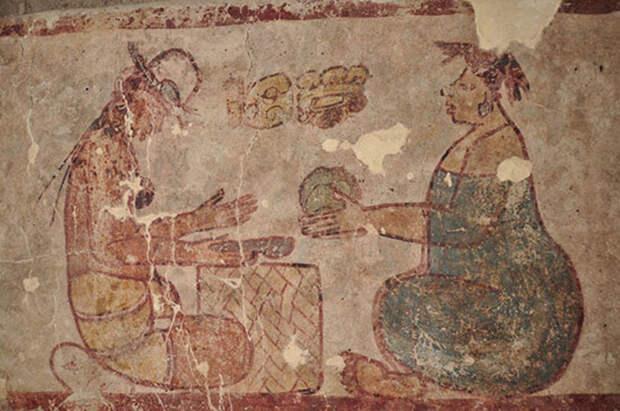 Древняя фреска показала, чем торговали индейцы майя более 2500 лет назад