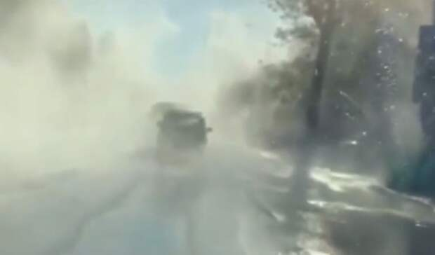 Кипятком затопило улицу Красноармейскую вРостове