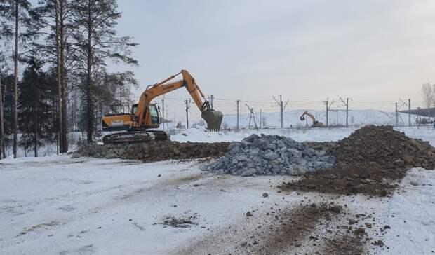 Подъезд кмосту через Тагильский пруд начали строить состороны Свердловского шоссе