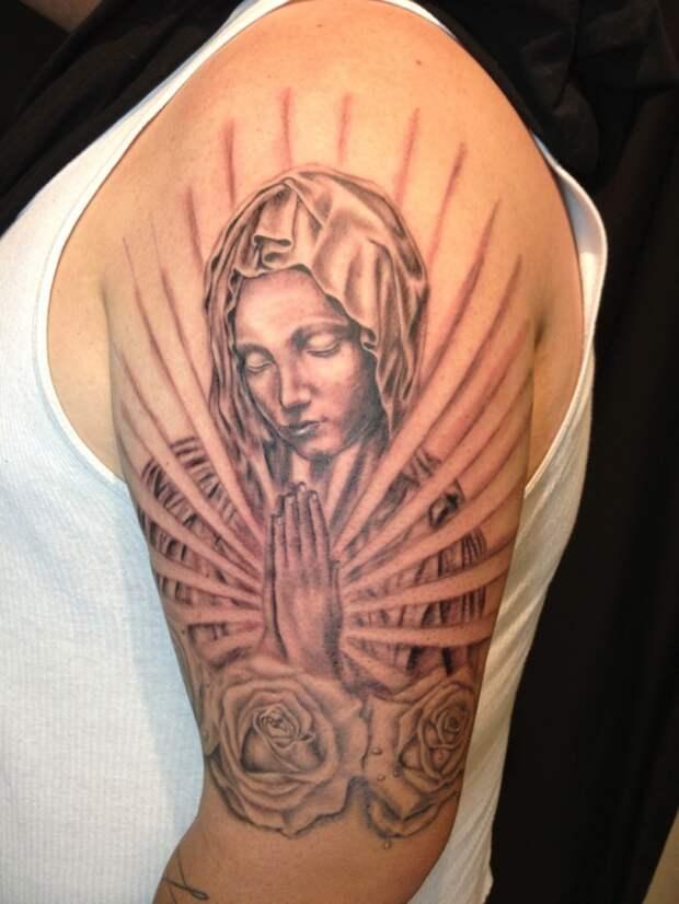 Значение тату Девы Марии