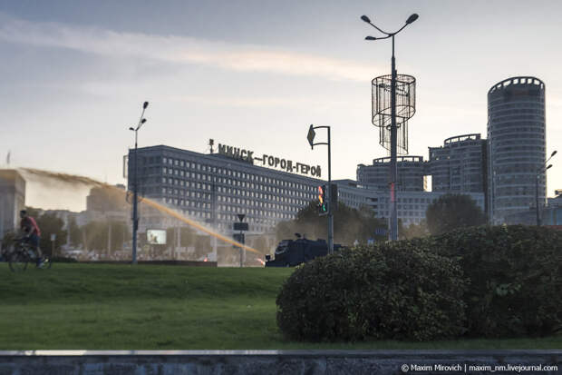 Тайная «инаугурация» и водомёты в Минске.