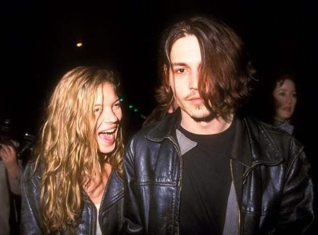 Кейт Мосс и Джони Депп, 1994 год.