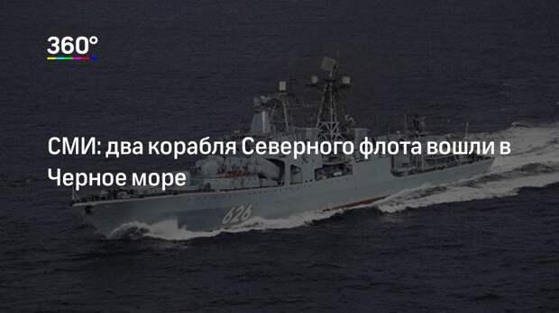 СМИ: два корабля Северного флота вошли в Черное море