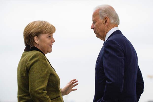 """Байден не смог заставить Меркель остановить """"Северный поток-2"""""""