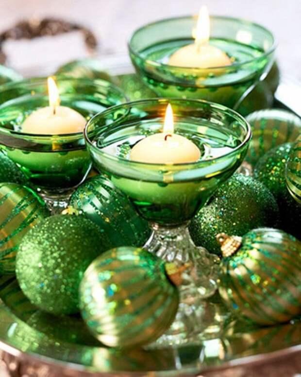 Символику огненной обезьяны можно поддержать с помощью свеч