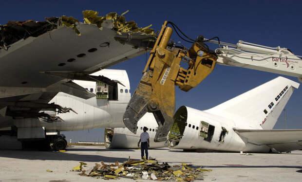 Первое европейское предприятие по утилизации самолетов открылось в городе Шатору