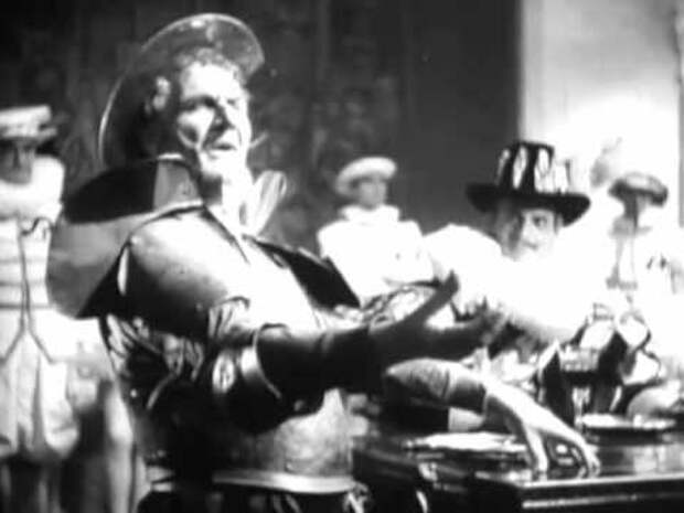 Федор Шаляпин в образе Дон Кихота.