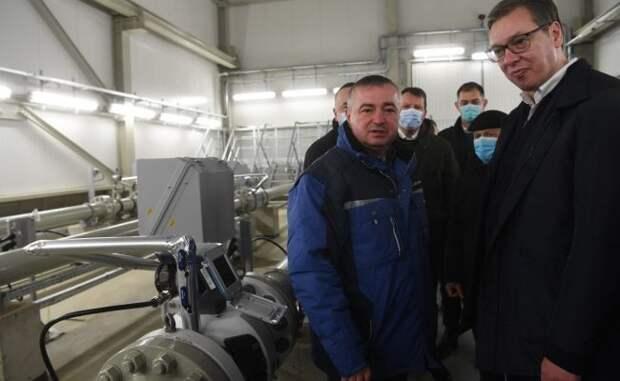 Поставки российского газа вСербию через Украину упали в10 раз