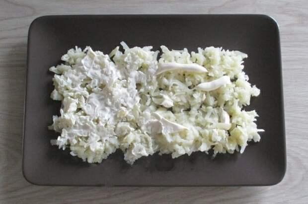 Слоеный салат с печенью трески. Удачный вариант!