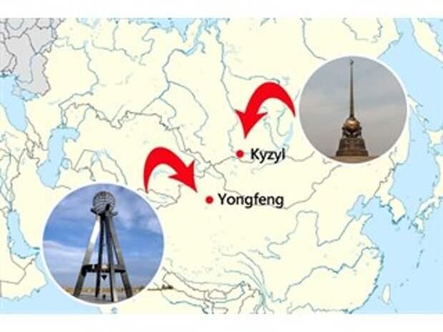 Многолетний спор России и Китая о географическом центре Азии