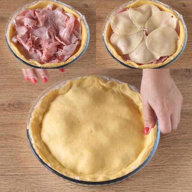 пирог с ветчиной в духовке